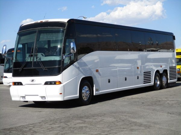 Front Drivers View of 2009 MCI E4500 Highway Coach
