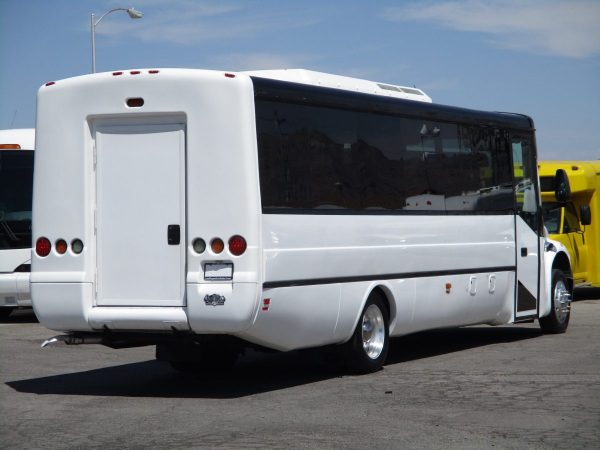 Rear Passenger Side View of 2013 ABC M1235 Shuttle Bus