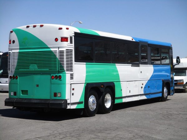 Rear Passenger Side View of 2004 MCI D4000 ADA Highway Coach