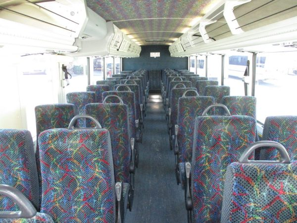 Rear Facing View Inside of 2004 MCI D4000 ADA Highway Coach