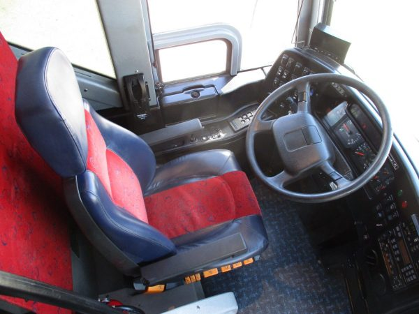 Drivers Seat of 2008 Prevost H3-45 Highway Coach