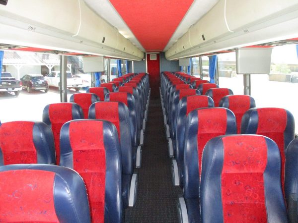 Down the Aisle of 2008 Prevost H3-45 Highway Coach