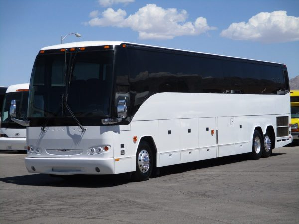 Front Drivers View of 2008 Prevost H3-45 Highway Coach
