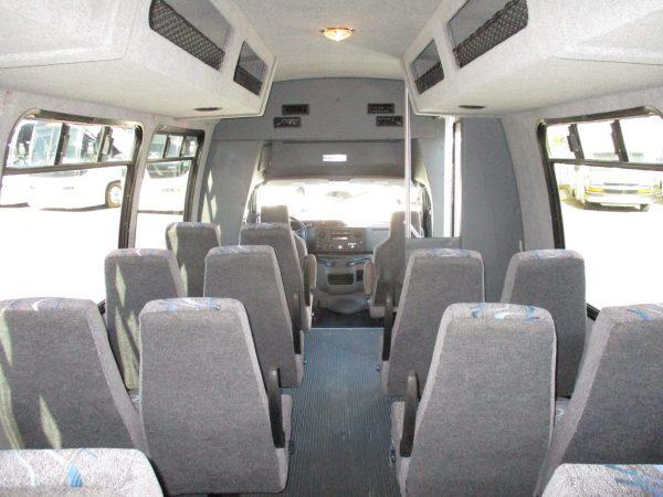 Interior Shot of 2010 Ameritrans 285 Shuttle Bus