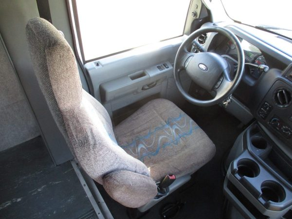Drivers Seat of 2010 Ameritrans 285 Shuttle Bus