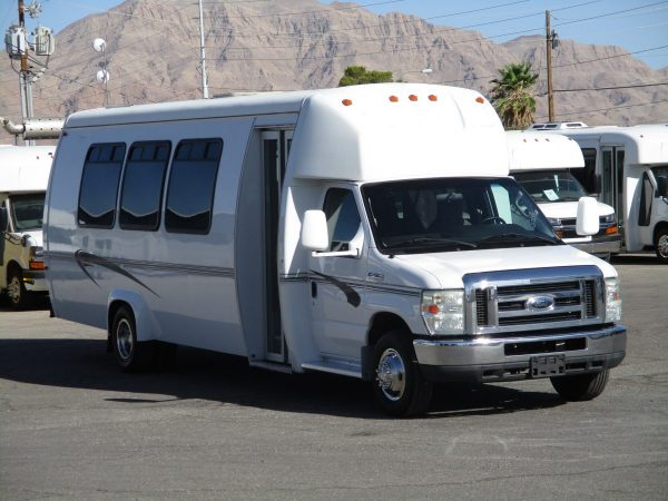Front View of 2010 Ameritrans 285 Shuttle Bus