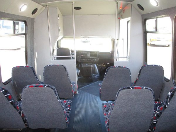 Interior of 2012 Elkhar Coach ECII Shuttle Bus