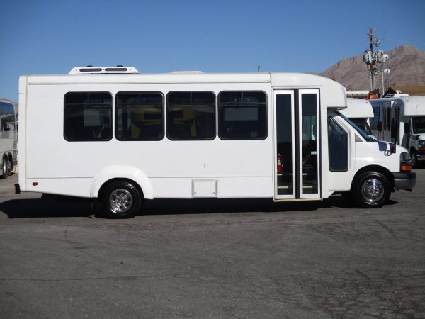 Side View of 2012 Elkhar Coach ECII Shuttle Bus