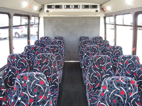 Aisle of 2012 Elkhar Coach ECII Shuttle Bus