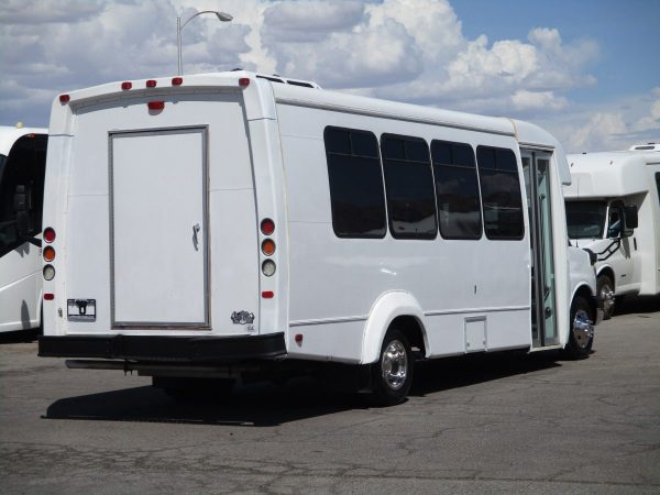 Rear Passenger Side View of 2012 Elkhart Coach ECII Shuttle Bus