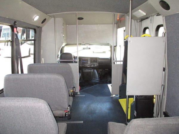 View from Back of 2012 Elkhart Coach Wheelchair Shuttle Bus