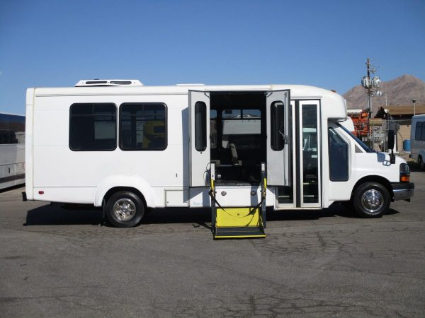Passenger Side Shot of 2012 Elkhart Coach Wheelchair Shuttle Bus