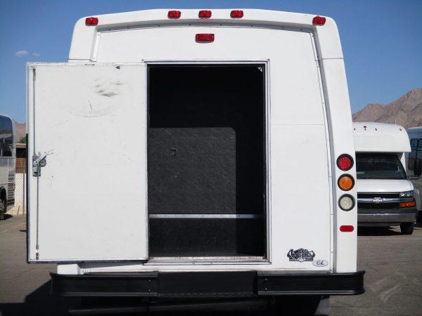 Rear Shot of 2012 Elkhart Coach Wheelchair Shuttle Bus