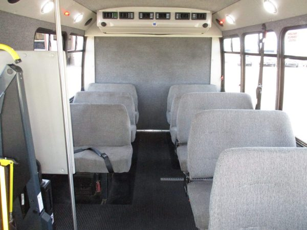 View from Front of 2012 Elkhart Coach Wheelchair Shuttle Bus