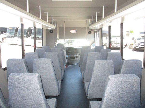 View from Back of New 2018 Goshen Impulse Shuttle Bus