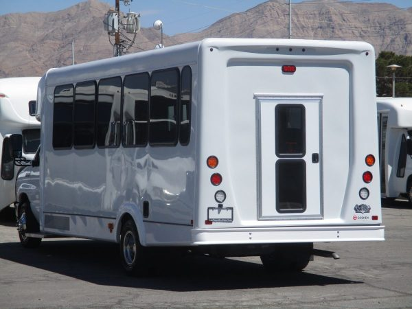 Rear Drivers Side View of New 2018 Goshen Impulse Shuttle Bus