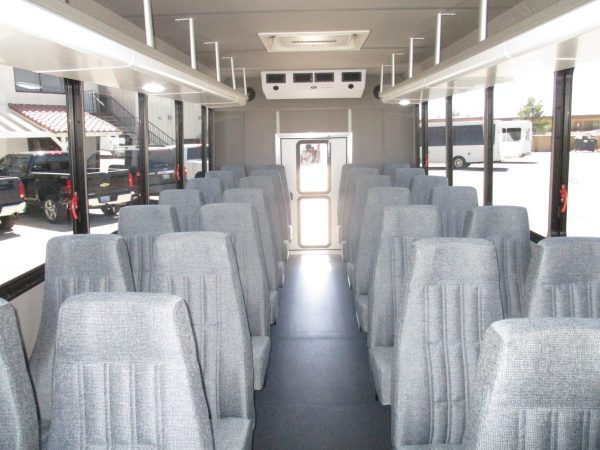 View from Front of New 2018 Goshen Impulse Shuttle Bus