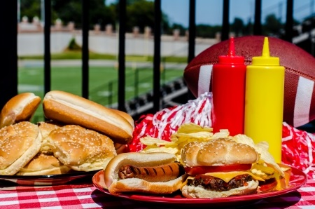 Tailgate Spread at Football Stadium