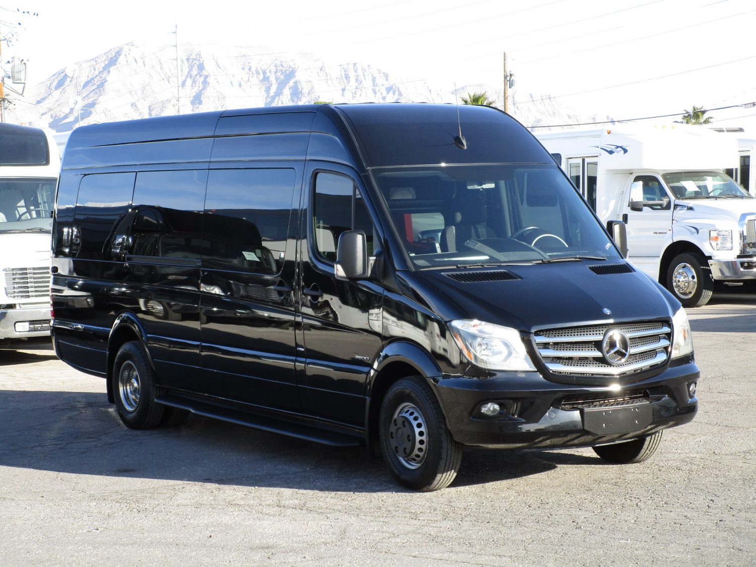 2015 Mercedes Benz Sprinter Limo Bus Front Passenger Side