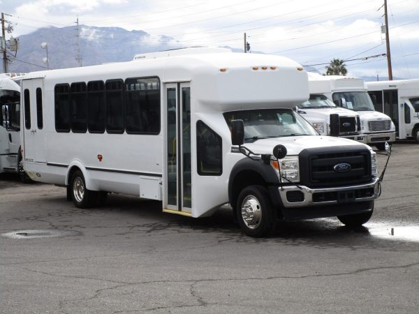2013 ElDorado Aero Elite Lift Equipped Shuttle Bus Front Passenger