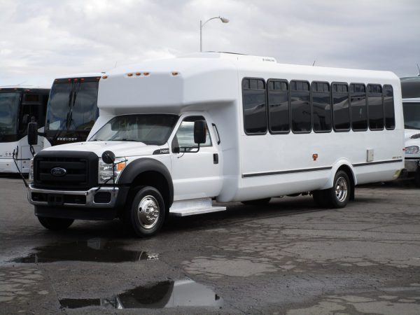 2013 ElDorado Aero Elite Lift Equipped Shuttle Bus Drivers Front