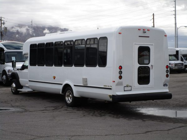 2013 ElDorado Aero Elite Lift Equipped Shuttle Bus Driver Rear