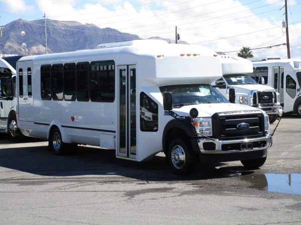 2013 ElDorado Aero Elite Lift Equipped Shuttle Bus Passenger Front