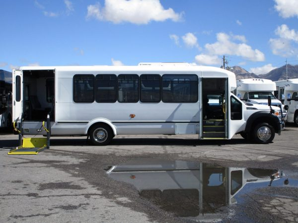 2013 ElDorado Aero Elite Lift Equipped Shuttle Bus Passenger Side