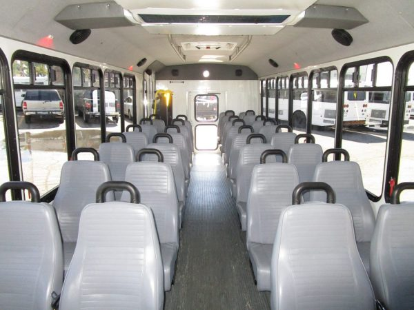 2013 ElDorado Aero Elite Lift Equipped Shuttle Bus Front Aisle