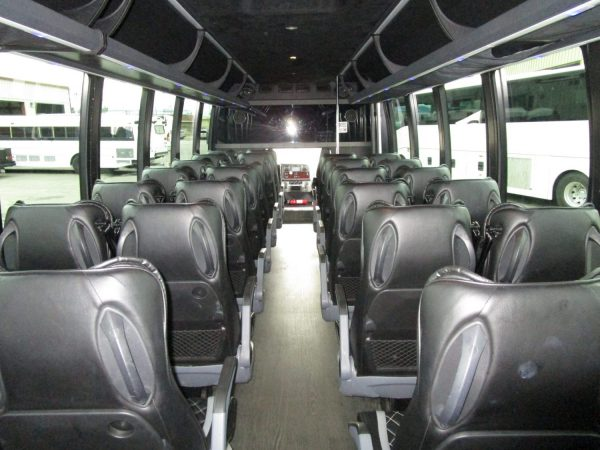 2018 Executive Coach Builders Luxury Shuttle Bus Back Aisle