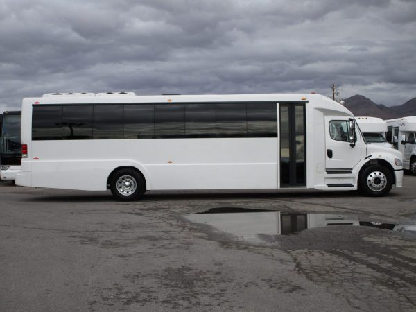 2018 Executive Coach Builders Luxury Shuttle Bus Passenger Side