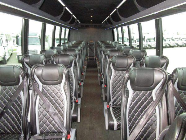 2018 Executive Coach Builders Luxury Shuttle Bus Front Aisle